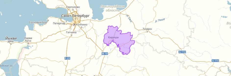 kirishskij-rajon-na-karte