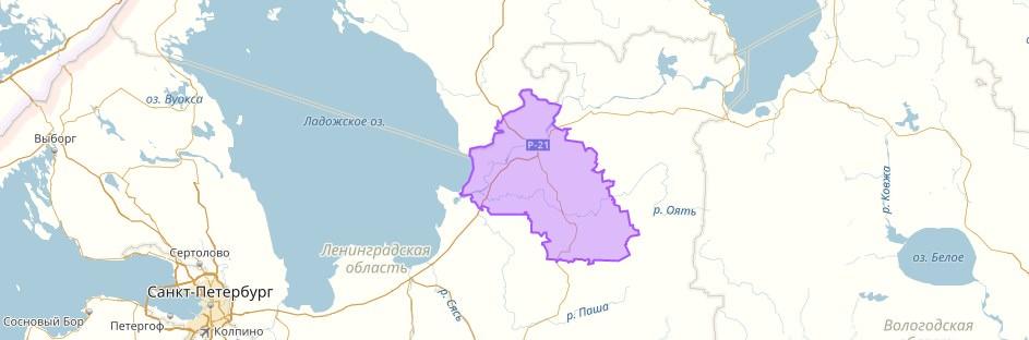 lodejnopolskij-rajon-na-karte