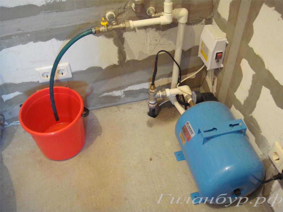 подвод воды в дом из скважины
